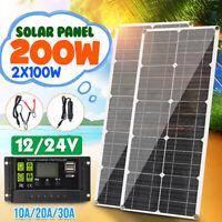 200W 12V Semi Flexible Solar Panel Kit Battery Charger w/ Controller Car RV Boat