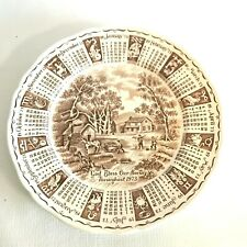 Vtg 1973 Calendar Plate Alfred Meakin God Bless Our House Staffordshire England