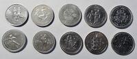 10 versch SONDER-Münzen England /GB/UK Queen Elizabeth II stgl-PP / Kapsel (1638