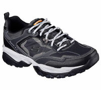 Wide Navy Skechers Shoes Men Memory Foam 52700 W Fit Sport Train Comfort Sneaker