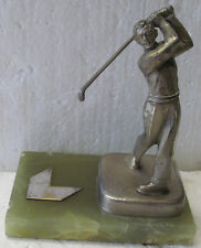 FIGURAL GOLFER ON A MARBLE BASE TROPHY  CIRCA 1940'S