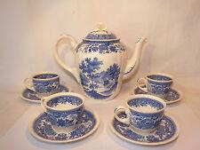 Ensemble 4 Tasses + Verseuse Villeroy & Boch Burgenland Bleu