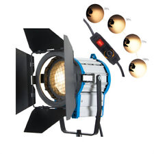 1000W DIMMER FRESNEL TUNGSTEN SPOT LIGHT VIDEO BARNDOOR VIDO LIGHT+BULB+BARNDOOR
