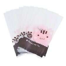 Cute Cookie Biscuit Plastic Gift Bags Sweet Candy Self-adhesive Party Bags 50pcs