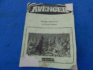 1981 Universal COSMIC AVENGER video game operation, maintenance & service manual