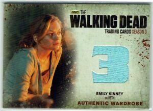 Walking Dead Season 3 Part 1 Wardrobe Card M5 Emily Kinney as Beth SHORT PRINT