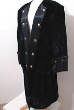 "Custom NBC STUDIO'S Worn Black Velvet & Satin 18th Century Tail Coat ""M. Gorey"""