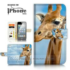 ( For iPhone 5 / 5S ) Wallet Case Cover P21127 Giraffe
