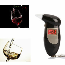 LCD Digital Car Breath Alcohol Analyzer Tester Breathalyzer Police Test Keychain