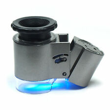 Mini 50x Lighted Jewelers Loupe Magnifier wih LED Fluorescence Lights 9882A