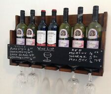 7 bottle wine rack. glass holder. chalk board price list pub club home hotel...