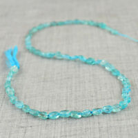 41.40 Cts / 12 Inches Earth Mined Untreated Blue Apatite Drilled Beads Strand