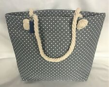 Spots Tote Bag with Rope Handles Grey Beach Shopping
