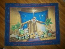 VEGGIETALES CRIB BLANKET Baby Christian Nativity Birth Of Jesus Christ Christmas