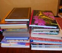 Lot of 17 Clean Empty Diary Journals