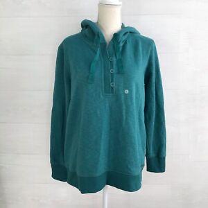 NWT Eddie Bauer - Cabin Fleece hoodie pullover Spearmint Green, M