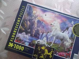 Clementoni White Horse Fluorescent Puzzle 1000pcs