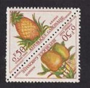Gabon 1962 sc#J35a postage due MNH pair-pineapple, mangoes