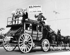 Vintage KNOTT'S BERRY FARM 8x10 PHOTO, H.R. Pufnstuf on Horse-drawn Carriage