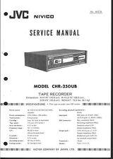 JVC Service Manual für CHR-250 UB