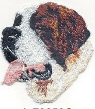 "2 3/4"" St. Saint Bernard Dog Breed Portrait Embroidery Patch"