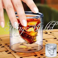 Crystal Skull Head Vodka Shot Whiskey Home Wine Beer Tea Glass Drinking Cup BG
