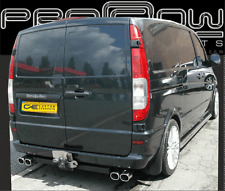 MERCEDES VITO VANEO STAINLESS STEEL CUSTOM BUILT EXHAUST SYSTEM TWIN TAIL PIPE