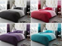 Urban Ombre Duvet Quilt Cover Bedding Set Single Double King With Pillow Case