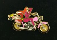 Disney Shopping Who Framed ROGER & JESSICA Rabbit Biker Motorcycle LE 250 Pin