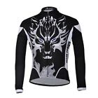 2016 Men's Bike Clothes Long Sleeve Jersey Tops Cycling Shirts Moon Wolf Black