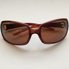 DOLCE GABBANA-Glam marrón mujeres & de las gafas de sol con el logotipo de cristal-Y Estuche