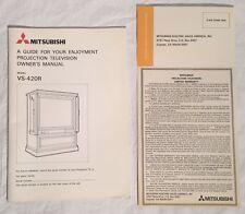 Vintage MITSUBISHI VS-240R Projection Television TV Manual & Warranty Card