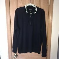 Brooks Brothers Country Club Men's Long Sleeve 1/3 Zip Pullover Sz L