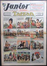 JUNIOR Le Journal de Tarzan fascicule n°109 du 28 avril 1938 Bon état
