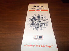 1968 Enco Seattle and Vicinity Vintage Road Map