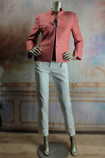 $3700 New with tags AKRIS Salmon Coral Wool Linen Wrinkle Jacket 8 38