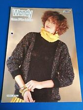 Wendy Lady's Sweater With Lace Panel Knitting Pattern 2865