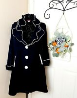 Vtg DESIGN TODAY'S - SONG & SUNG Black White Posable Wire Collar Cuff Jacket M