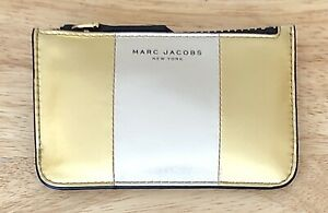 Nwt Women's Marc Jacobs Bicolor Metallic Leather Key Pouch, Gold Multi