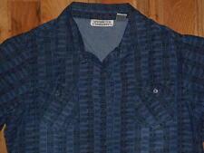 Denim Shirt Womens XL Top 18-20 New Direction Blue Blouse Long Sleeves 5m16