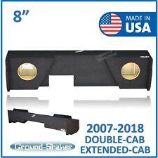 """Chevy Silverado Double Cab 2007-2018 8"""" Dual Sub box Subwoofer Enclosure"""
