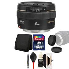 Canon EF 50mm f/1.4 USM Lens + 16GB Accessory Kit for Canon 750D 760D 650D 600D
