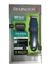 Remington WeTech Face Body Hair Trimmer Grooming Kit
