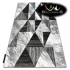 Moderne Incroyable Design Neuf Tapis Modifier Triangles Gris Épais Pas Cher