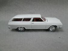 1965 CHEVY CHEVELLE WAGON  white  1/64 DIE-CAST~ REAL RUBBER TIRES@@FREE SHIP@@