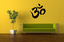 Ohm Decorative Peace Wall Art Vinyl Decal Chilling Sticker Home Removable Buddha
