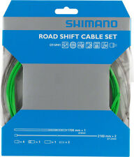SHIMANO SIS SP41 ROAD PTFE GREEN SHIFT DERAILLIEUR BICYCLE CABLE KIT W/ HOUSING