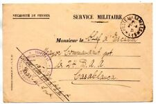 Morocco: 1935 Military cover to Casablanca from Kser-es-Souk