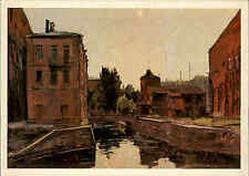 Leningrad Sankt-Peterburg Postcard Postkarte 1978 Häuser Gebäude Künstlerkarte