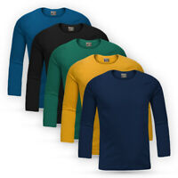 Boys Children Long Sleeve Jersey Cotton Top Assorted Colours Kids Casual T-Shirt